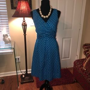 Nine West Polka Dot Pleated Dress
